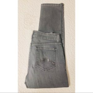 NYDJ high waisted grey bling jeans